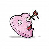 love struck heart cartoon
