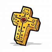 cartoon crucifix cross