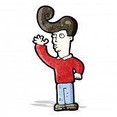 cartoon man with fashion hairstyle