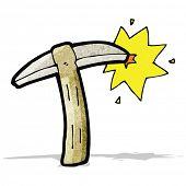 cartoon pickaxe