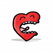 love heart cartoon character