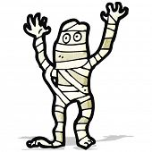cartoon halloween mummy