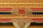 Ceiling with beautiful ornament in Yogyakarta Sultanate Palace