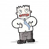 cartoon blameless man