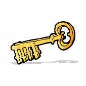 cartoon gold key