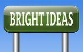 bright new ideas brilliant innovation and idea start brainstorm and explore creativity