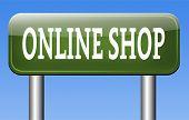 online shop internet web shopping webshop sign