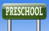 preschool education kindergarten nursery school or playgroup