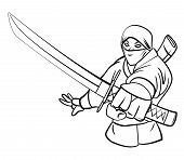 picture of ninja  - Ninja Editable  - JPG