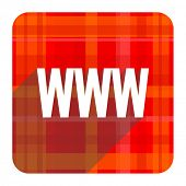 www red flat icon isolated