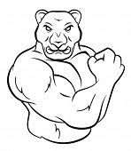picture of panther  - Strong Panther Editable  - JPG