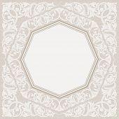 foto of ottoman  - Floral frame background - JPG