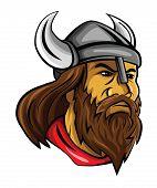 foto of viking  - Viking Head Editable  - JPG