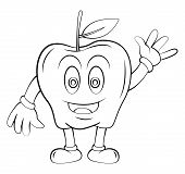 Apple Fruit Cartoon