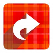 next red flat icon isolated