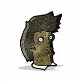 cartoon staring man