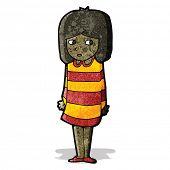 cartoon nervous girl