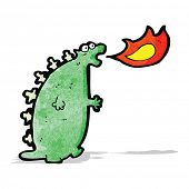 image of fire-breathing  - fire breathing monster cartoon - JPG
