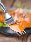 Smoked Salmon On A Fork
