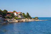 Coastal View Of Ancient Town Nesebar, Bulgaria, Black Sea Coast