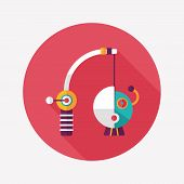 Fishing Toy Flat Icon With Long Shadow,eps10