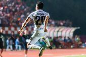 Sisaket Thailand-october-15: Javier Patino Of Buriram Utd. In Action During Thai Premier League Betw