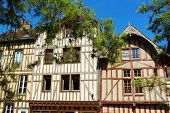 Half-timbered Houses In Troyes, France