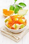 Fruit Vegetable Salad In White Bowl