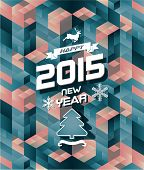 Abstract retro polygonal modern christmas happy new year  background