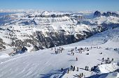 Ski Resort In The Dolomites
