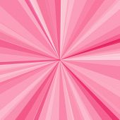 Pink rays background. Vector illustration for your bright beams design