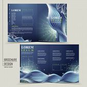 Abstract Technology Background For Half-fold Brochure