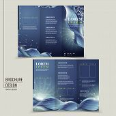 Abstract Technology Background For Tri-fold Brochure