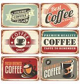 Coffee retro signs collection