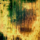 Old antique texture - perfect background with space for your text or image. With yellow, brown, orange, green patterns