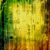 Old school textured background. Grunge background. With yellow, brown, green patterns