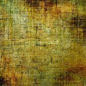 Grunge aging texture, art background. With yellow, brown, green patterns