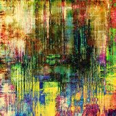 Vintage grunge background. With yellow, brown, green, blue patterns