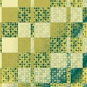 Old background with delicate abstract texture. With yellow, green, gray patterns