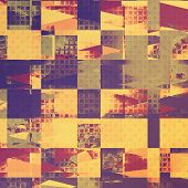 Vintage textured background. With yellow, brown, violet, gray patterns