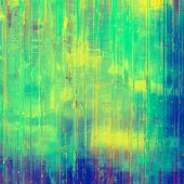 Grunge retro vintage texture, old background. With yellow, green, blue patterns