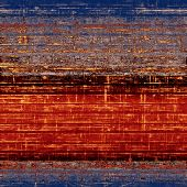 Grunge texture, may be used as background. With brown, red, orange, blue patterns
