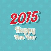 Happy New Year typography background with 3D text
