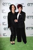 LOS ANGELES - OCT 18:  Sara Gilbert, Sharon Osbourne at the 2014 Environmental Media Awards at Warner Brothers Studios on October 18, 2014 in Burbank, CA