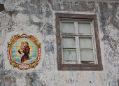 Sant Antonio Painted On A House