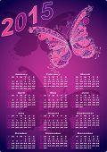 Dark Violet Pocket Calendars For 2015