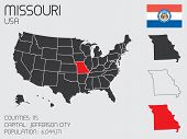 Set Of Infographic Elements For The State Of Missouri