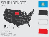 Set Of Infographic Elements For The State Of South Dakota