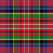 Vector Seamless Pattern Scottish Tartan Caledonia