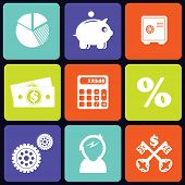 Finance icons square